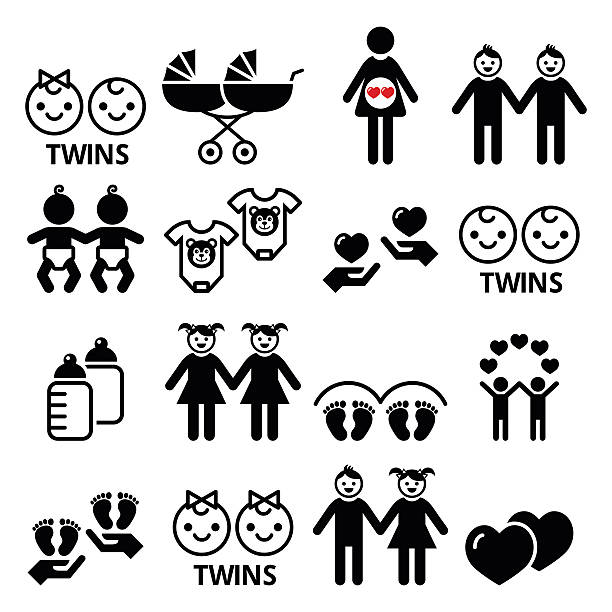 Royalty Free Twin Babies Clip Art Vector Images Illustrations