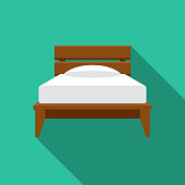 istock Twin Bed Furniture Icon 1192341690