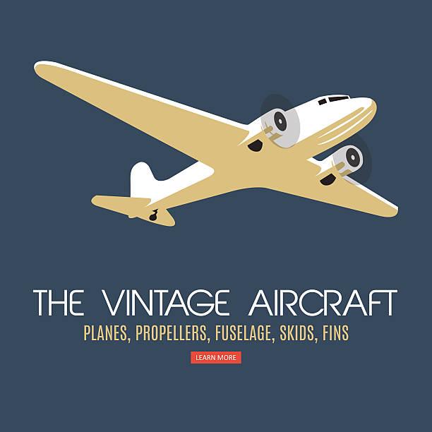 Gêmeo motor passageiro avião. Por rótulo e banners. - ilustração de arte em vetor