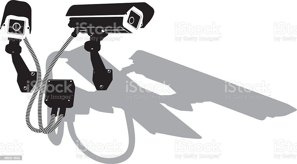 twin aperto telecamera di sicurezza cctv twin aperto telecamera di sicurezza cctv - immagini vettoriali stock e altre immagini di ambientazione esterna royalty-free