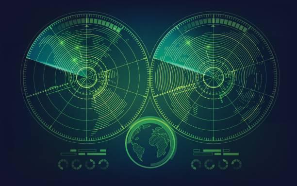 twin radar - radar stock illustrations