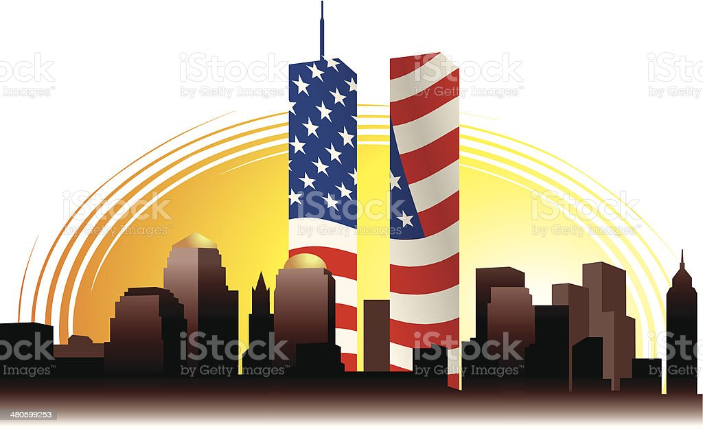 royalty free twin towers collapse clip art vector images rh istockphoto com twin towers malaysia clipart Twin Towers Silhouette