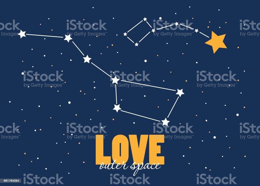 Twinkle little star vector art illustration