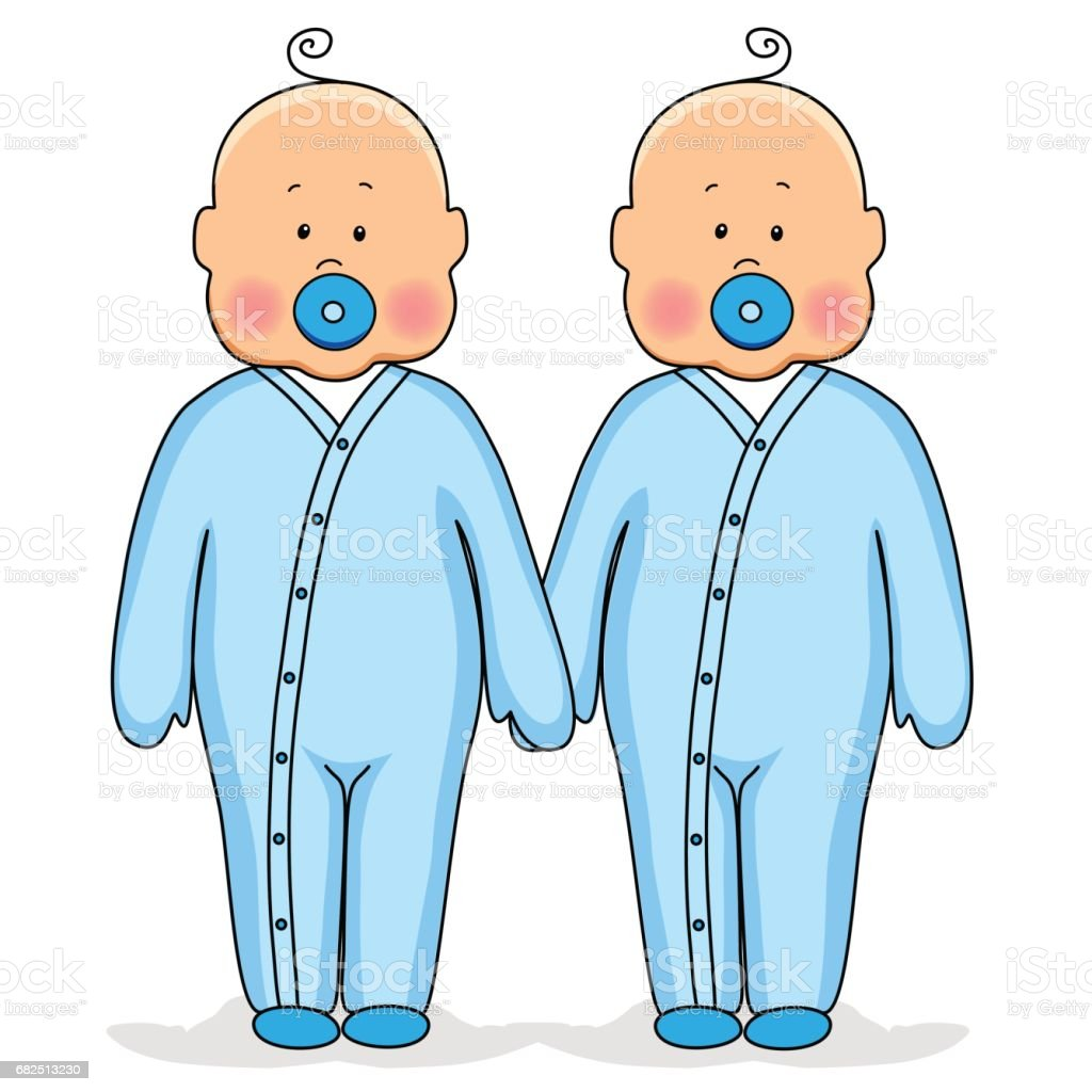 Twins as cute babies holding hands royalty-free twins as cute babies holding hands stock vector art & more images of adoption