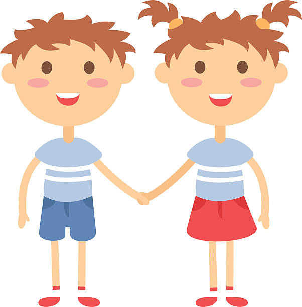 Royalty Free Teenage Twin Boys Clip Art, Vector Images ...