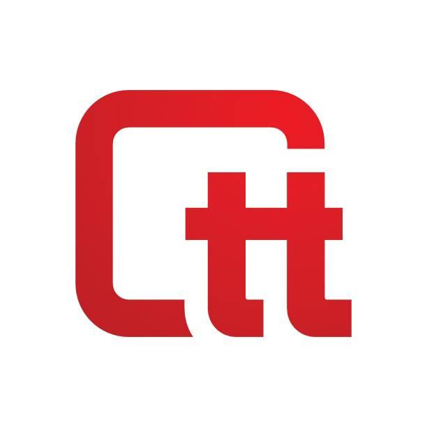 Twins logo design Letter T, Logo, Abstract, Typescript, Alphabet letter t stock illustrations