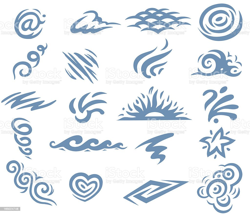 Twirls and Swirls 2 royalty-free stock vector art