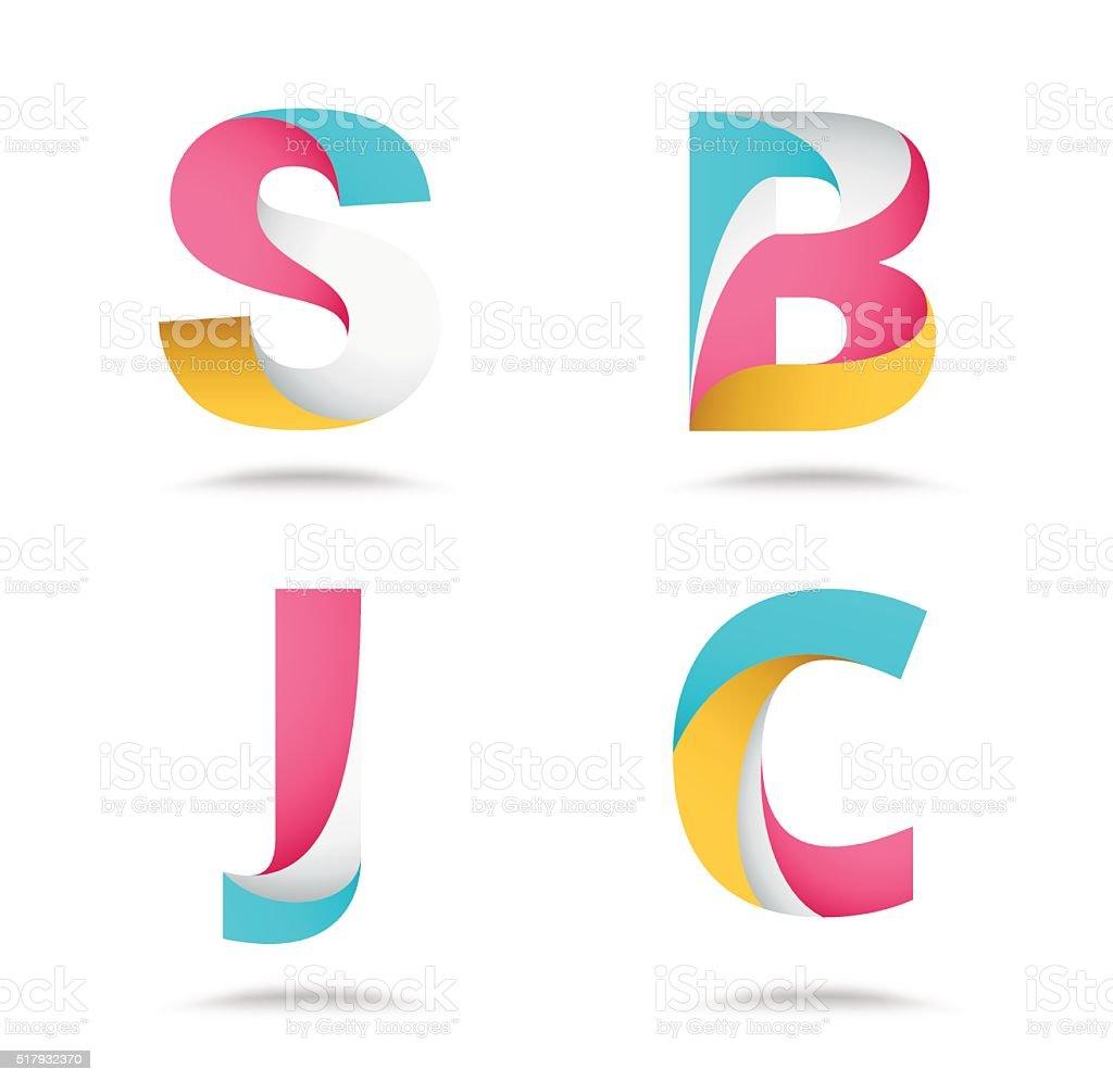 Twist Material Alphabet Logo Design Vector Stock Stock Vector Art ... for Logo Design For Alphabets  110ylc