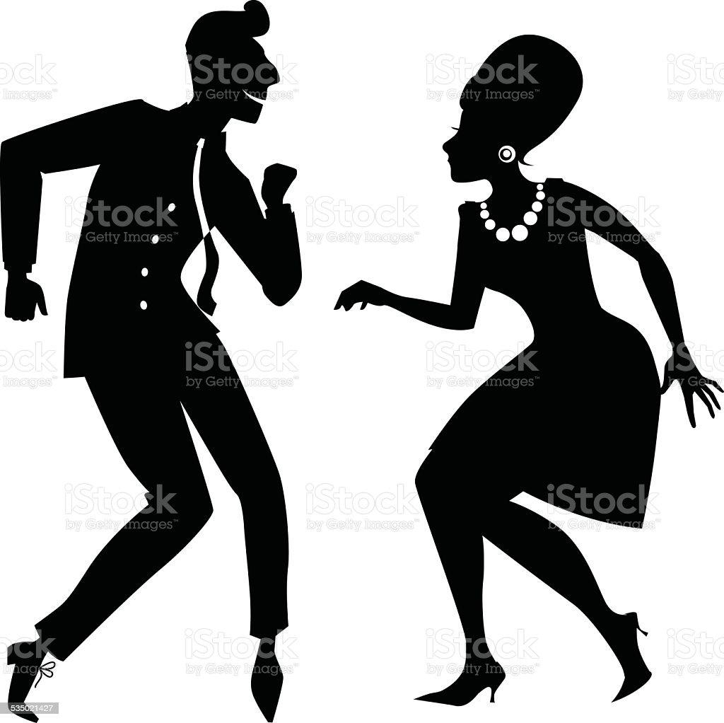 Twist silhouette vector art illustration