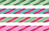 Twisted cane colorful borders set. Vector illustration