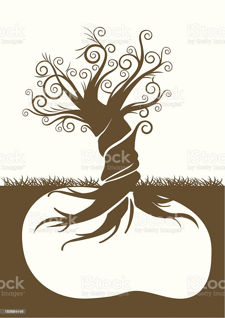 Twisted Tree royalty-free stock vector art