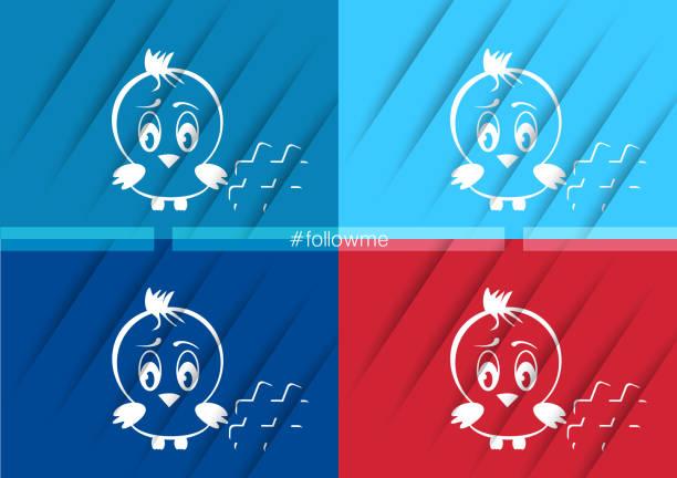 twitter bird icon vector web illustrations - twitter 幅插畫檔、美工圖案、卡通及圖標