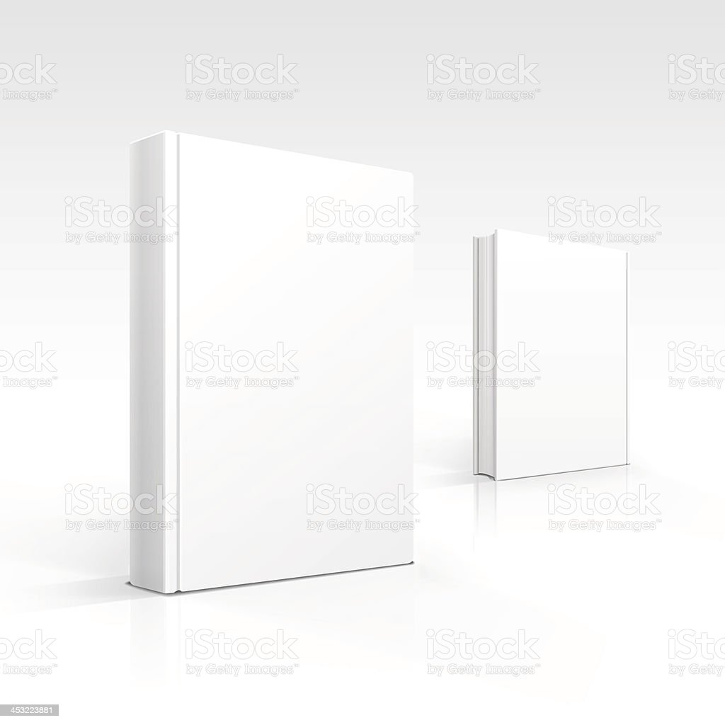 Two 3D renderings of blank white books over white background royalty-free two 3d renderings of blank white books over white background stock vector art & more images of blank