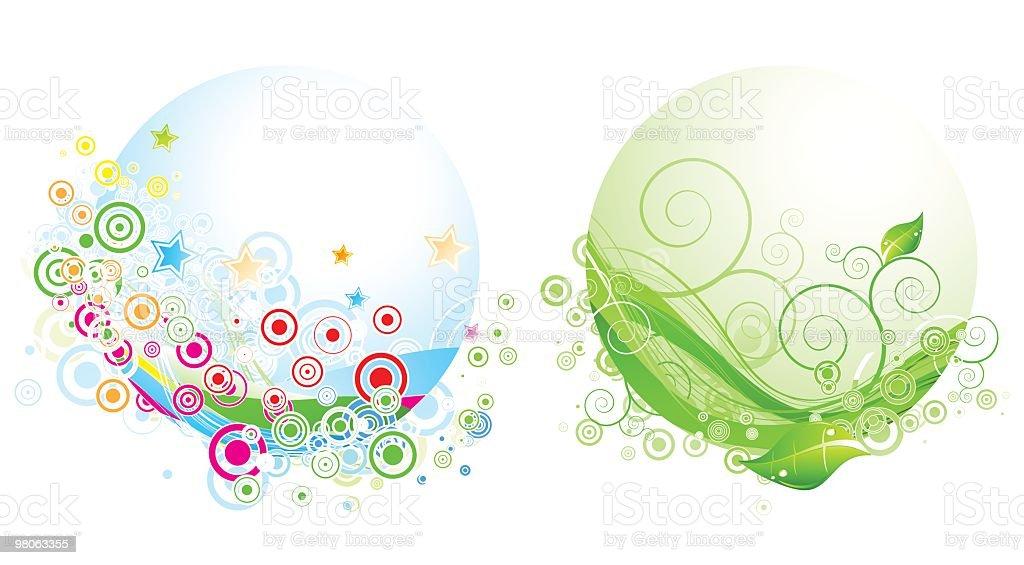 두 추상적임 다채로운 원 royalty-free 두 추상적임 다채로운 원 0명에 대한 스톡 벡터 아트 및 기타 이미지