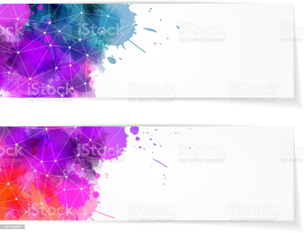 Two abstract modern banners royalty-free stock vector art