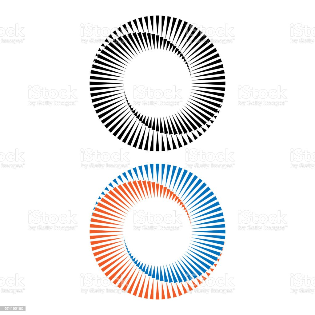 Two abstract spirals