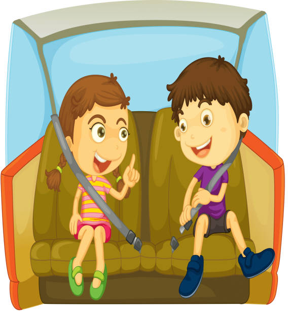 Best Car Back Seat Illustrations, Royalty-Free Vector ...