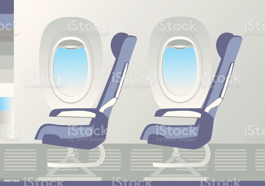 Two armchairs and Porthole. vector art illustration