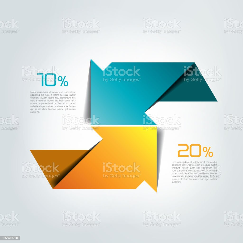 Two arrows in different direction infographic chart scheme diagram two arrows in different direction infographic chart scheme diagram royalty free ccuart Images