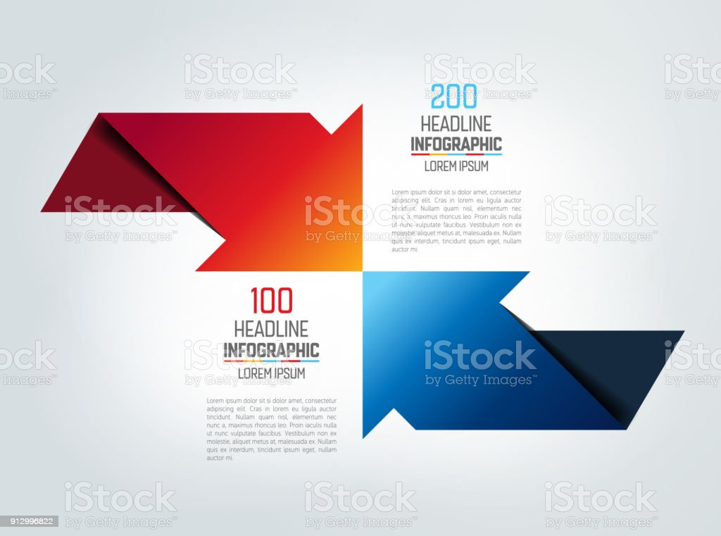 Two arrows in opposite direction infographic chart scheme diagram two arrows in opposite direction infographic chart scheme diagram royalty free ccuart Images