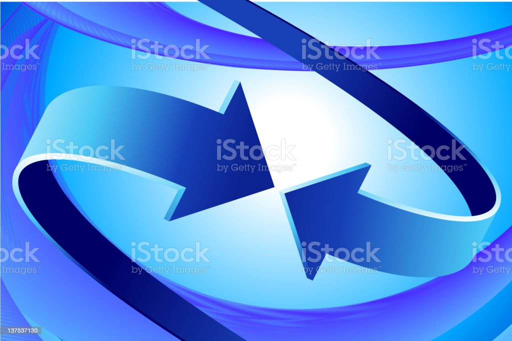 two arrows on Abstract Background vector art illustration
