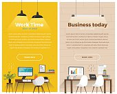 Two banner for web design