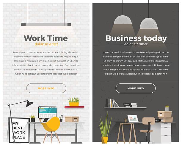 zwei banner für web-design - neues zuhause stock-grafiken, -clipart, -cartoons und -symbole