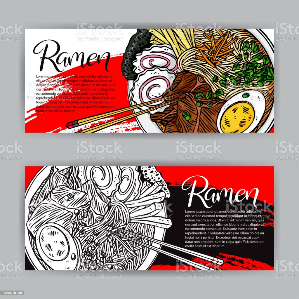 two banners of ramen