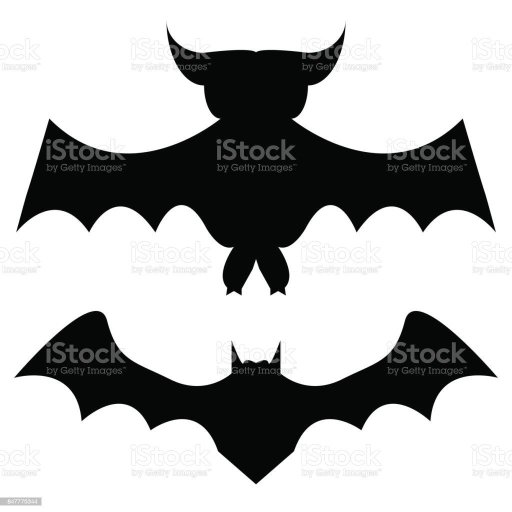 2 つのコウモリのシルエット K Popのベクターアート素材や画像を多数ご