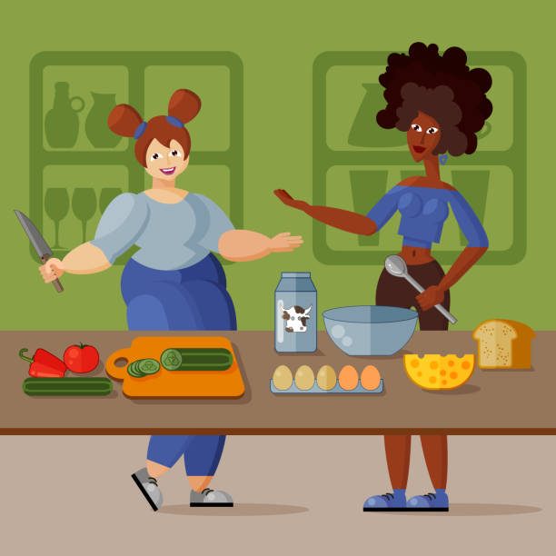 African American Woman Cooking Cartoon Illustrations ...