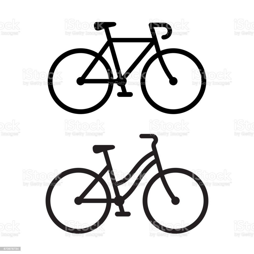 Two bike icons - Royalty-free Atividades ao Ar Livre arte vetorial