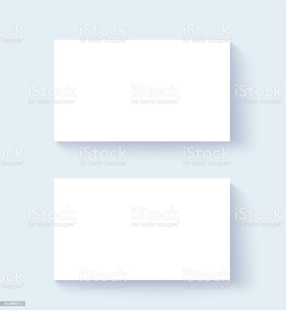 two blank business cards mock up design on white background business card placement with long - Blank Business Cards