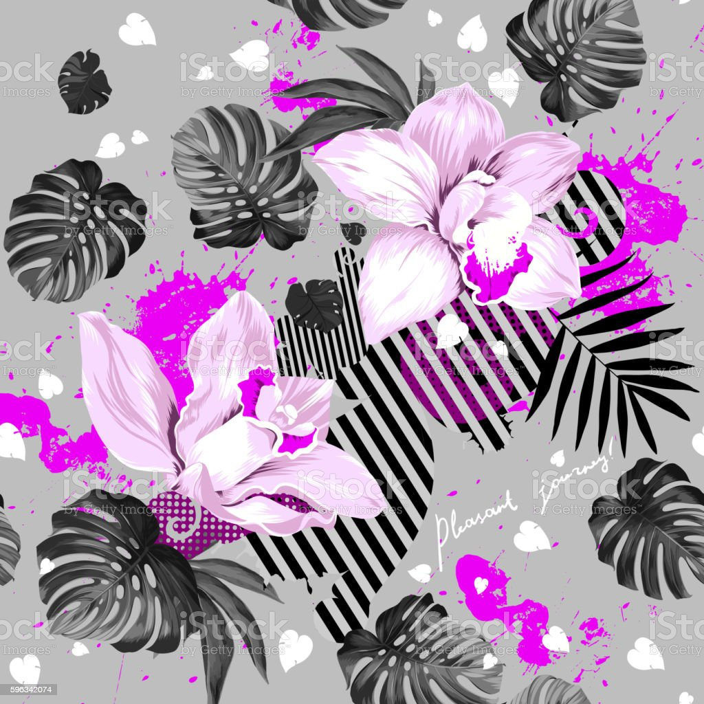 two blooming orchids royalty-free two blooming orchids stock vector art & more images of abstract