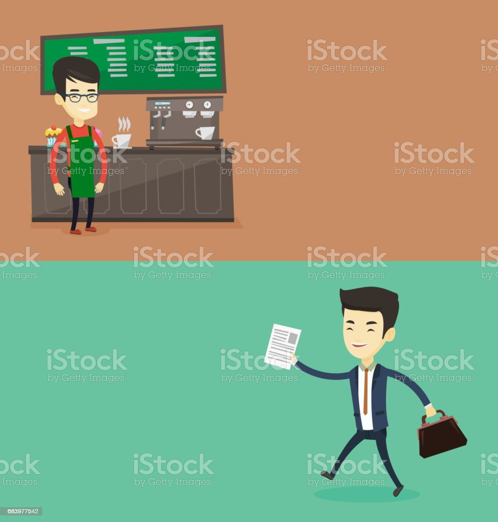 Two business banners with space for text vector art illustration