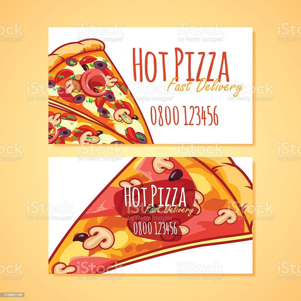 Deux Modles De Cartes Visite Pour La Livraison Pizzas Ou Pizzerias