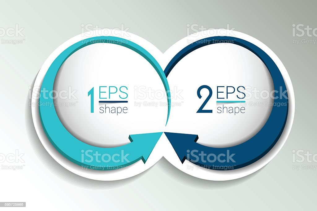 Two business elements banner, template. 2 steps design, chart, infographic vector art illustration