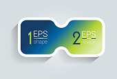 Two business elements banner. 2 steps design, chart, infographic, step by step number option, layout. 3D cyrcle style.