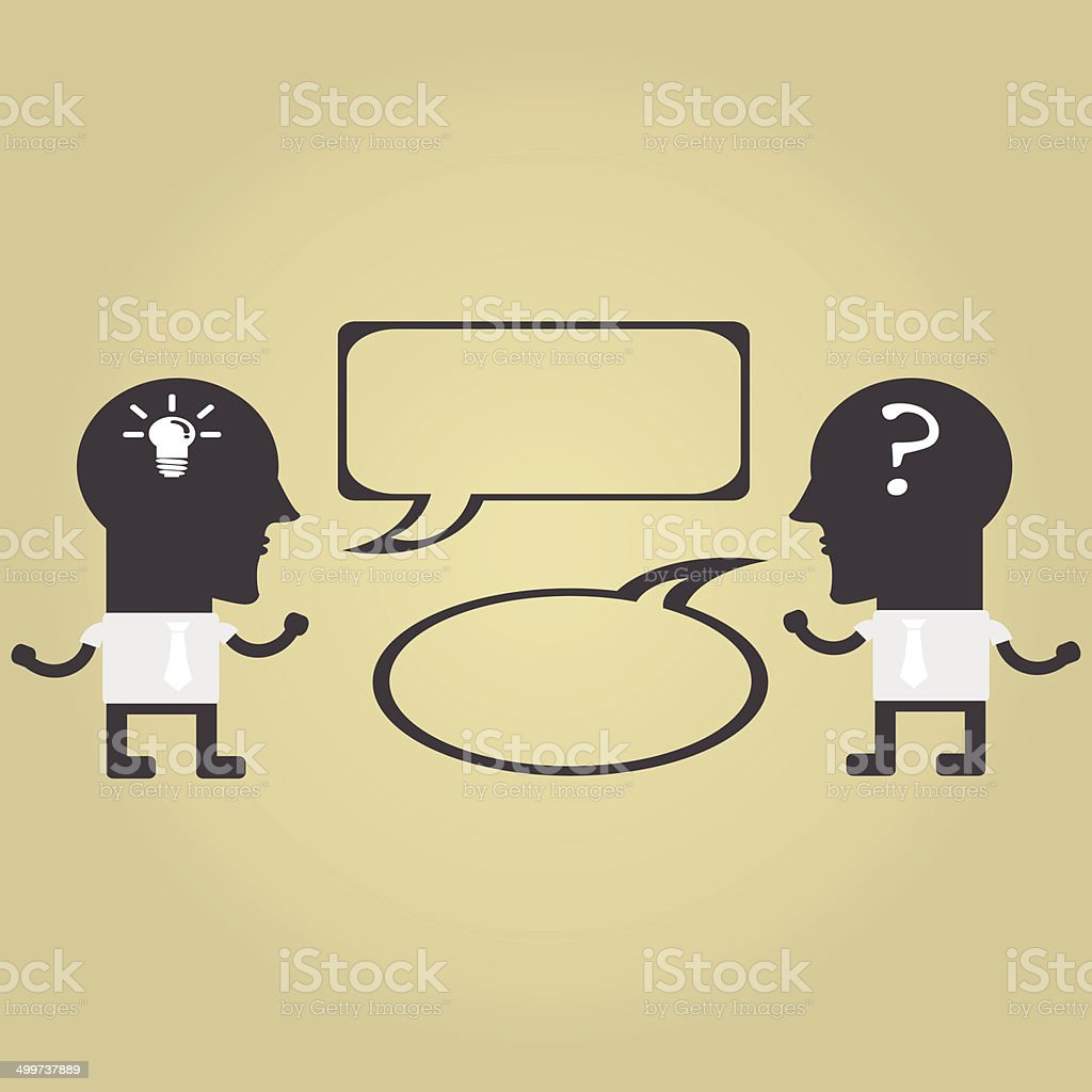 Two businessmen in conversation. vector  illustrations EPS10 royalty-free stock vector art
