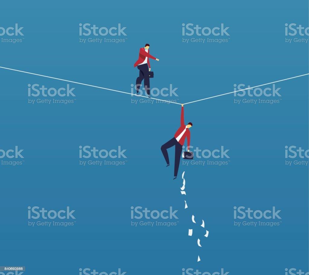 兩個商人冒險向量藝術插圖