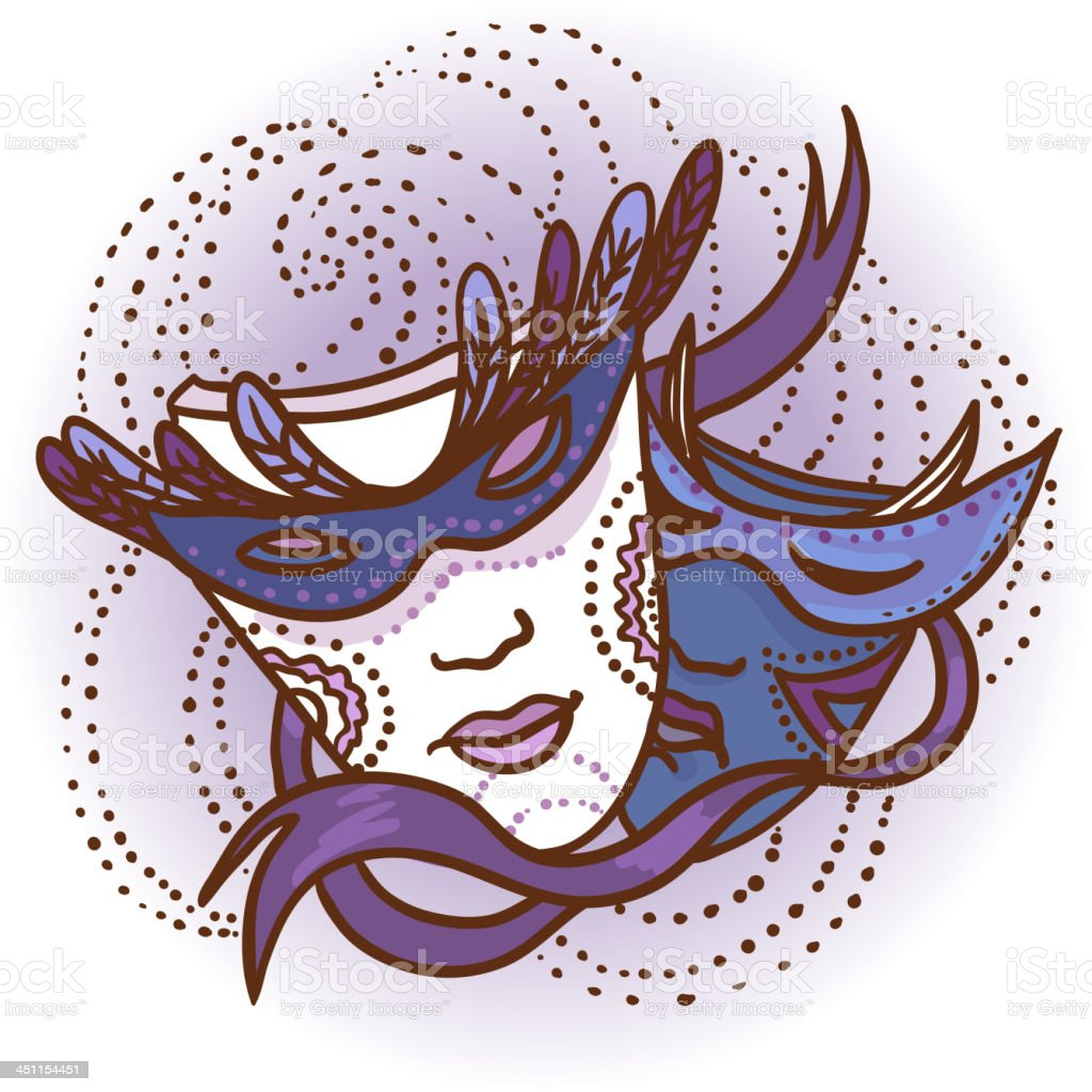 Two carnival masks royalty-free two carnival masks stock vector art & more images of actor