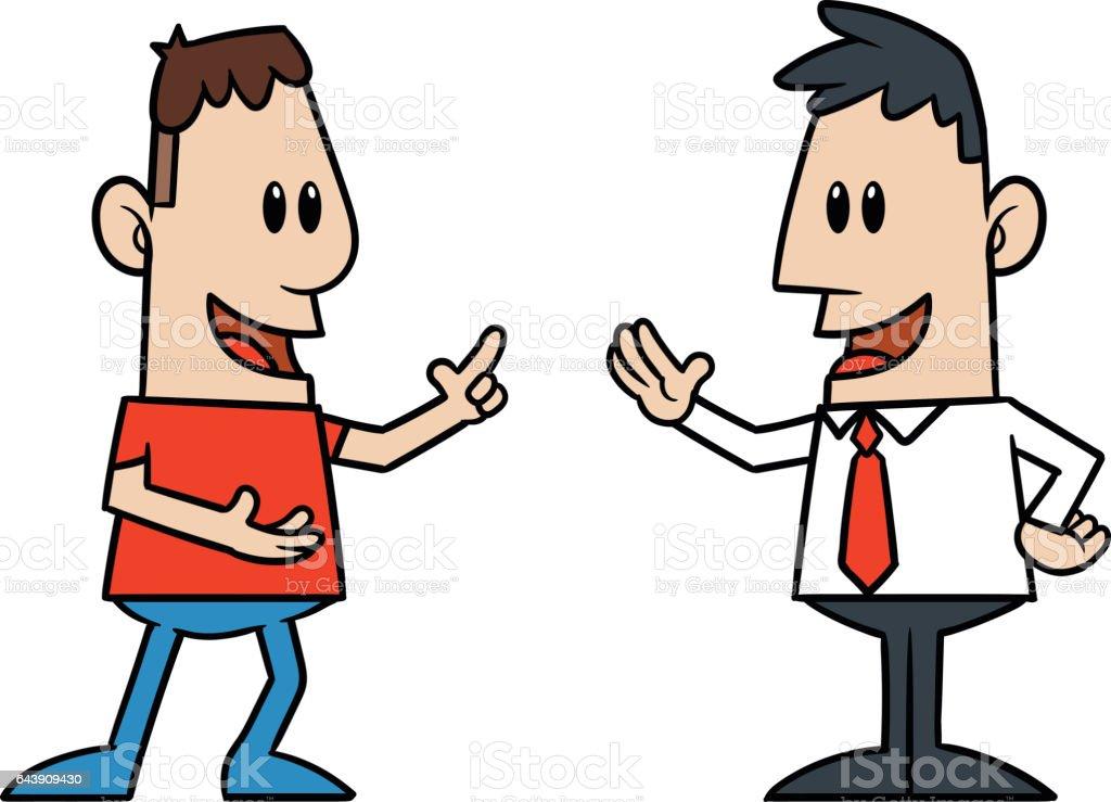 royalty free two men talking clip art vector images illustrations rh istockphoto com