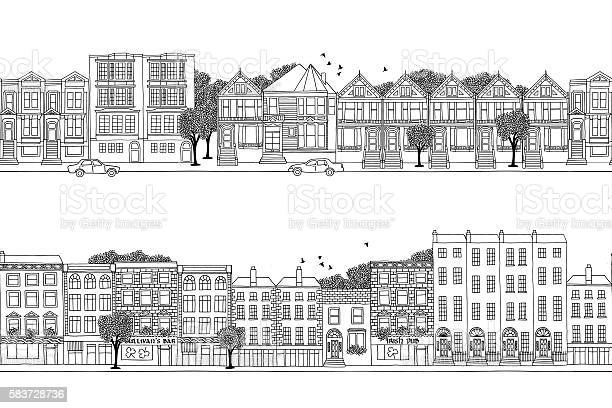 Two city banners with victorian style houses vector id583728736?b=1&k=6&m=583728736&s=612x612&h=2b v17 b1row9uruj7 wksblutstfw 2auwyaq asaa=