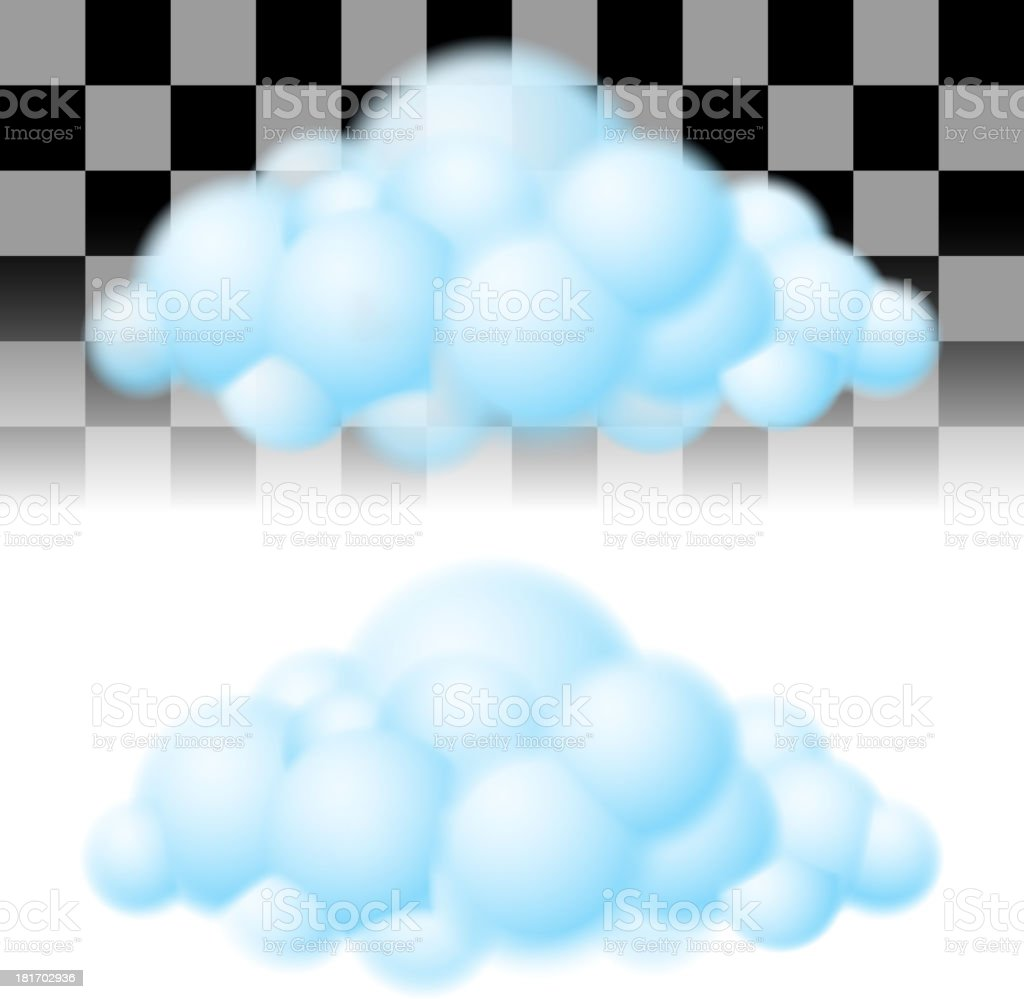 Two clouds. vector art illustration