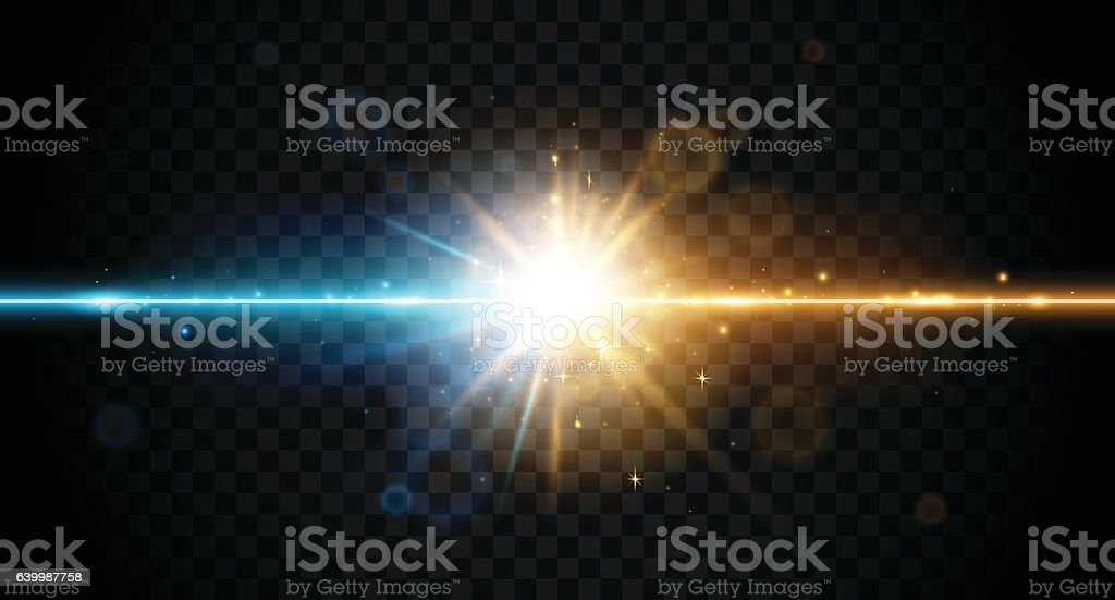 Two color forces lights vector art illustration