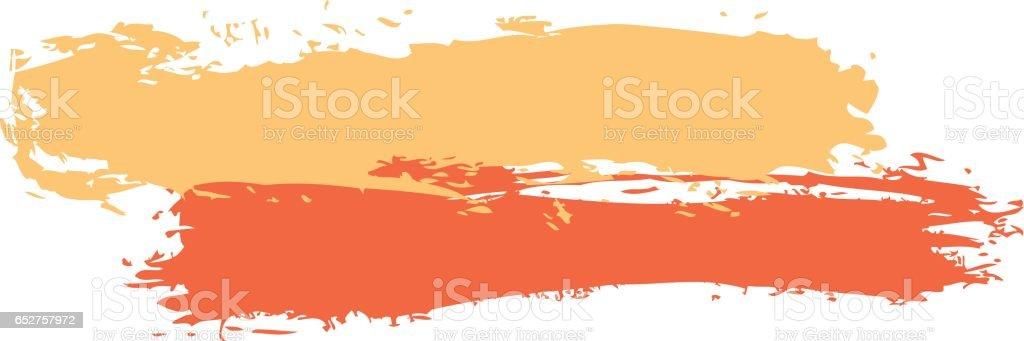 Two Colored Brush Stroke Paint - ilustração de arte em vetor