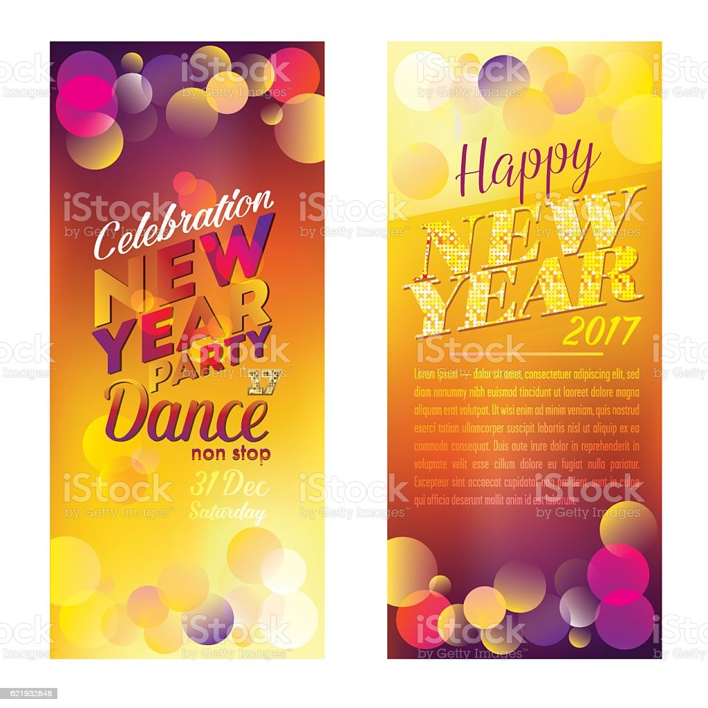 two colorful bright vertical banner new year 2017 royalty free two colorful bright vertical banner