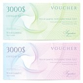 Two colorful vouches for $3000 each