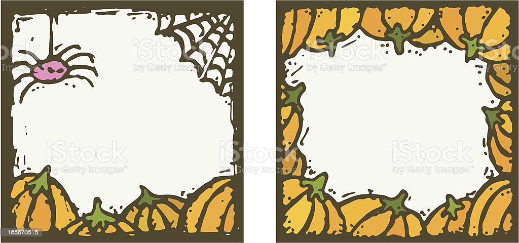 Two Colourful Halloween Frames Stock Vector Art & More Images of ...