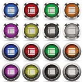 Two columned web layout glossy button set