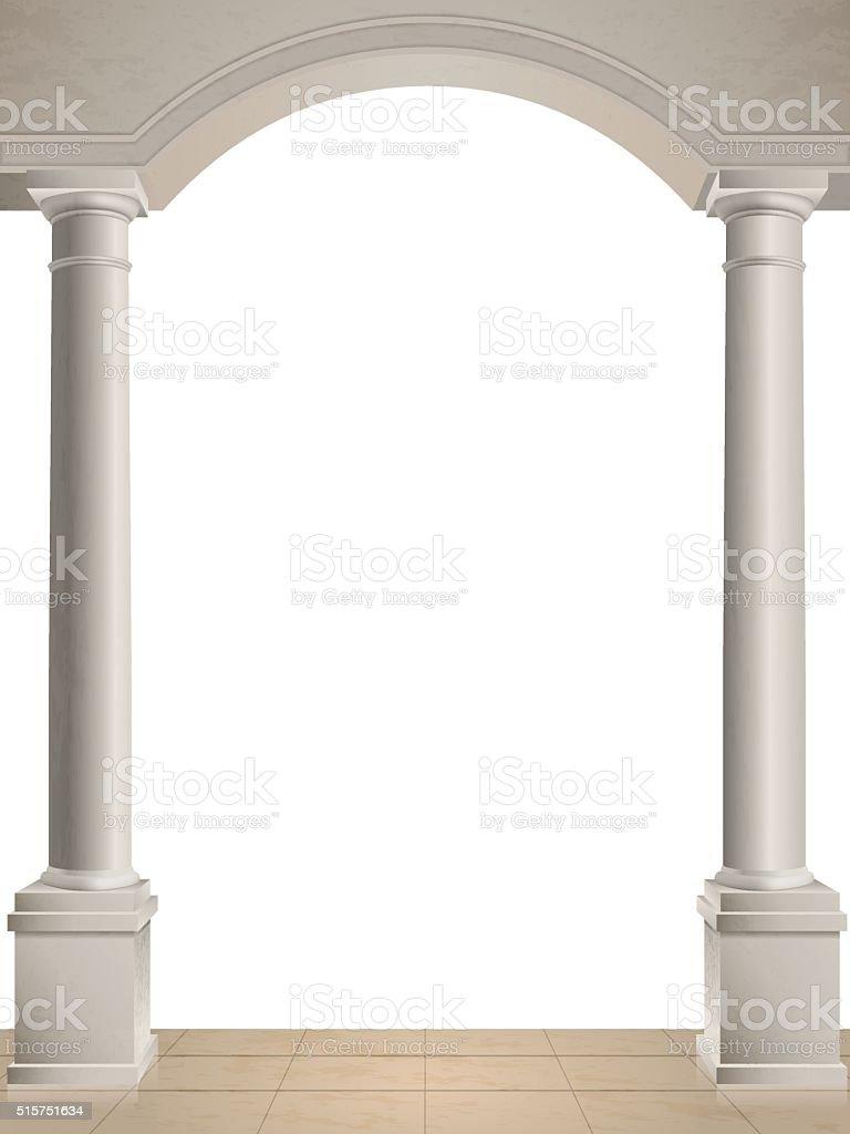Deux colonnes sur fond blanc - Illustration vectorielle